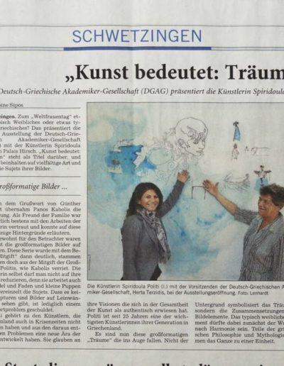Rhein-Necka,r newspaper, March 12, 2015